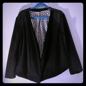 Jackets & Blazers - Black jacket with faux leather detail